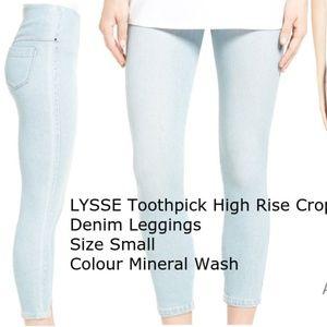 LYSSE Toothpick High Rise Crop Denim Legging